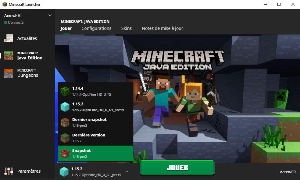 Launcher Minecraft